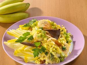 Bulgur orientalisch mit Chicorée (kalorienarm) Rezept