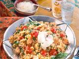 Bulgurrisotto mit Kirschtomaten Rezept