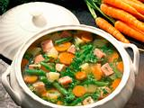 Bunte Gemüsesuppe mit Kasseler Rezept