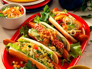 "Bunte ""Hot Dogs"" Rezept"