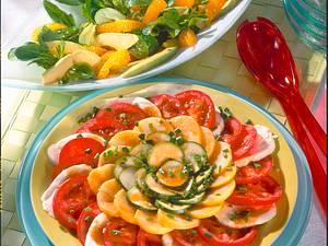 Bunte Salatplatte Rezept