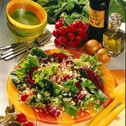Bunter Blattsalat mit Radieschensprossen Rezept