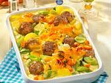 Bunter Gemüse-Auflauf mit Käsesoße Rezept