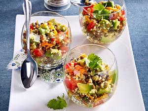 Bunter Linsen-Quinoa Salat Rezept