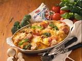 Bunter Nudelauflauf mit Mozzarella Rezept