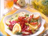 Bunter Salat mit Apfel-Essig-Vinaigrette Rezept