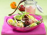 Bunter Salat mit Roastbeef & Ei Rezept