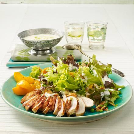 bunter salat mit tandoori h hnchen rezept lecker. Black Bedroom Furniture Sets. Home Design Ideas