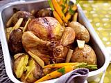 Butter-Hähnchen mit gemischtem Gemüse Rezept