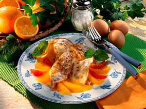Buttermilchpfannkuchen mit Citruskompott Rezept