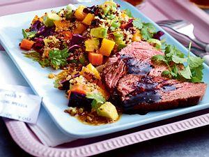 California Salad mit Rumpsteak Rezept