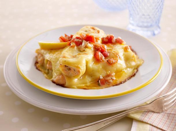 Cannelloni mit feiner Lachsfarce Rezept