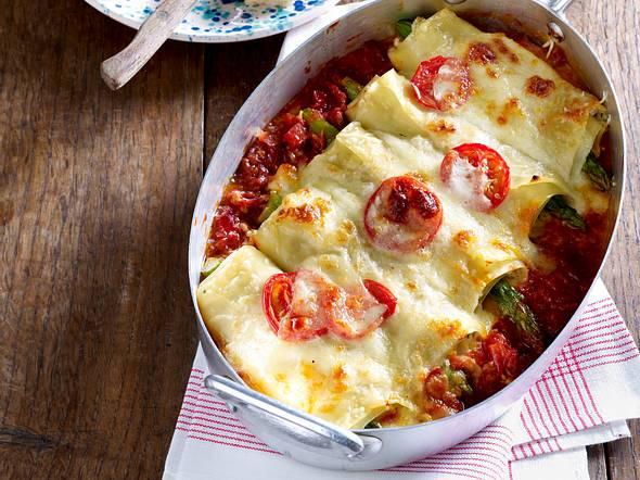 Cannelloni mit Forellen und grünem Spargel Rezept
