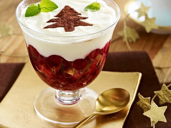 Cantuccini-Tiramisu mit Punschkirschen Rezept