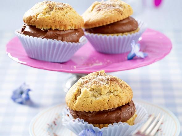 Cappuccino-Muffins mit Schokosahnefüllung Rezept