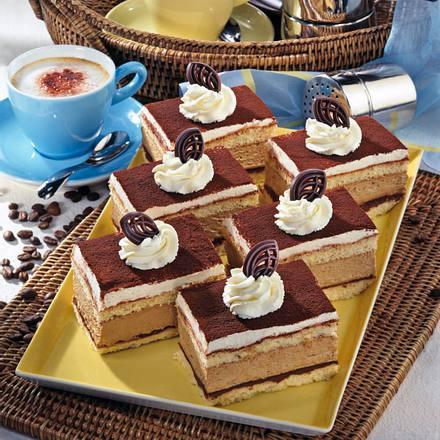 Cappuccino-Nougat-Schnitten Rezept