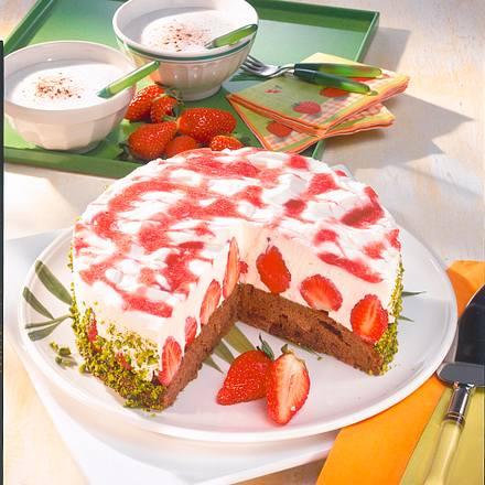 Cappuccino-Schoko-Erdbeer-Torte Rezept