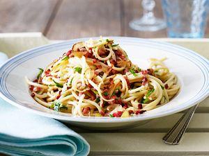 Spaghetti Carbonara light Rezept