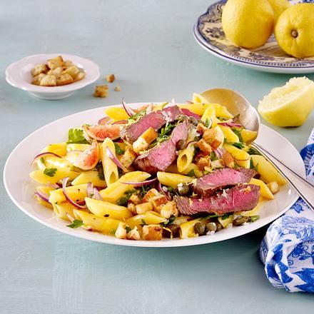 Carbonara mit Steakstreifen Rezept