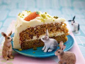 Carrot-Cake mit Pecannüssen und Frosting (Möhrenkuchen) Rezept