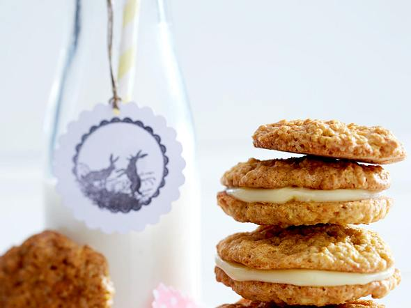 Carrot-Cookies mit Eierlikörcreme Rezept