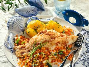 Catfish-Filet mit Linsengemüse Rezept