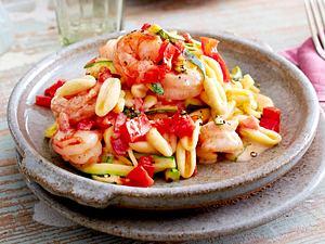 Cavatelli mit Zucchini und Garnelen Rezept