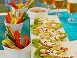 Ceasar Salad-Häppchen Rezept