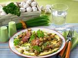 Champignon-Eier-Pfannkuchen Rezept