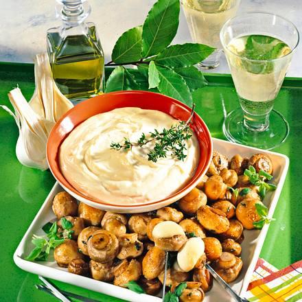 Champignon-Pfanne mit Aïoli Rezept