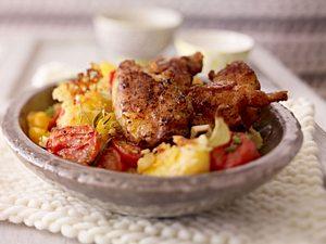 Chicken-Nuggets mit Crème-fraîche-Kartoffeln Rezept