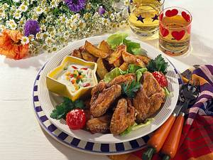 Chicken-Wings und Country-Kartoffeln Rezept