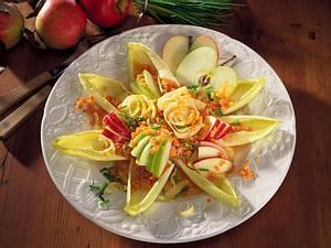 Chicoree-Linsen-Salat mit Äpfeln Rezept