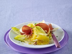 Chicorée-Orangen-Salat mit Lachsschinken Rezept