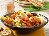 Chicorée-Salat mit Putenwürfeln Rezept
