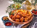 Chili-Hähnchen mit Röstkartoffeln Rezept