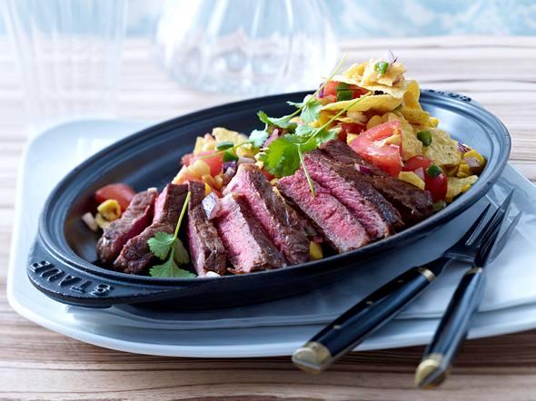 Chili-Steak mit Tortilla-Chips Rezept