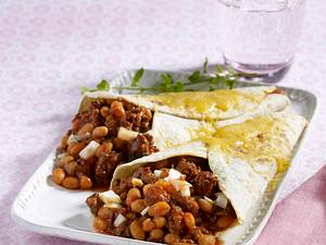 Chilibohnen-Hack-Tortillas Rezept