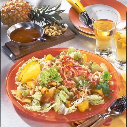 Chinakohl-Salat mit Ananas & Speck Rezept