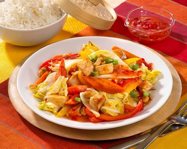 Chinakohlpfanne auf asiatische Art Rezept