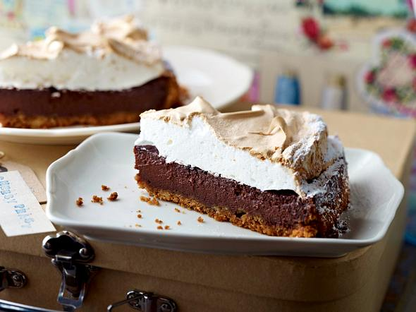 Chocolate-Cheesecake mit Marshmallow-Haube Rezept