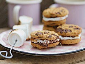 Cookie-Sandwich mit Marshmallow Rezept