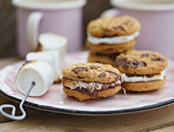 cookie sandwich mit marshmallow rezept lecker. Black Bedroom Furniture Sets. Home Design Ideas
