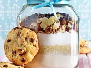 Cookies-Zutaten im Glas Rezept