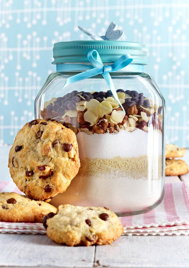 cookies zutaten im glas rezept lecker. Black Bedroom Furniture Sets. Home Design Ideas