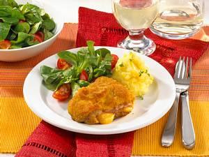 Cordon bleu mit Kartoffelpüree Rezept