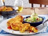 Couscous-Möhren-Frikadellen mit asiatischem Gurkensalat Rezept