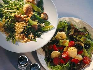 Couscous-Salat mit Erdnusssoße Rezept