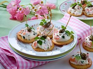 Cracker mit Bärlauchcreme Rezept