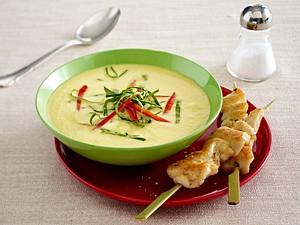 Cremige Kohlrabisuppe mit Kokosmilch Rezept